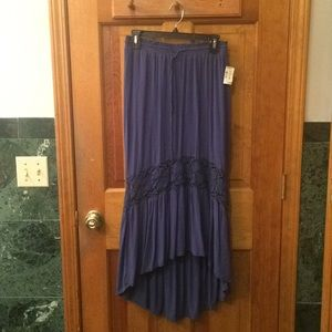 Aéropostale Blue Floor-Length Skirt
